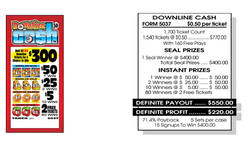 TAB 5037-DOWNLINE CASH