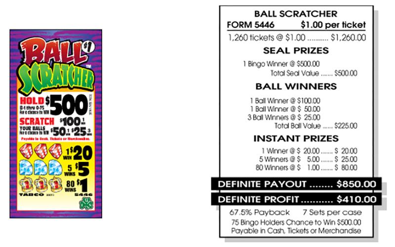 TAB 5446-BALL SCRATCHER