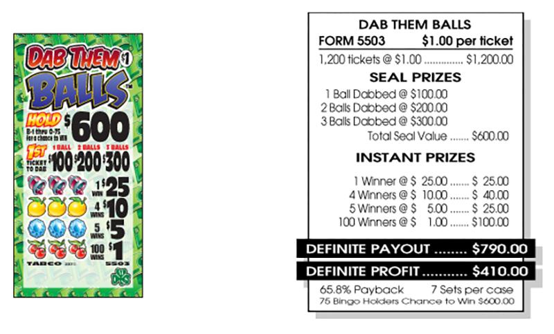 TAB 5503-DAB THEM BALLS