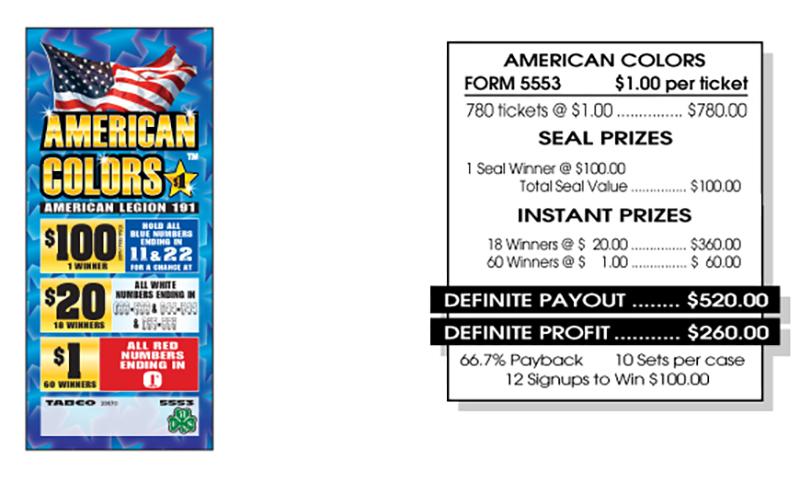 TAB 5553-AMERICAN COLORS