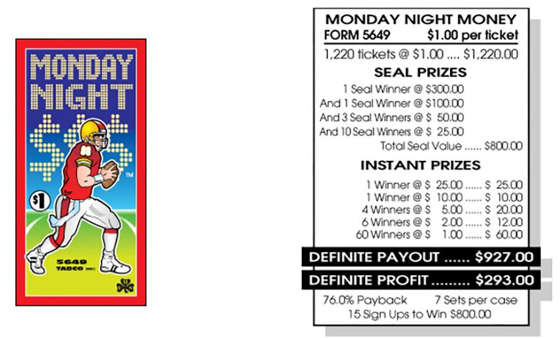 TAB 5649-MONDAY NIGHT MONEY
