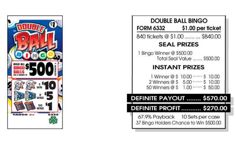 TAB 6332-DOUBLE BALL BINGO