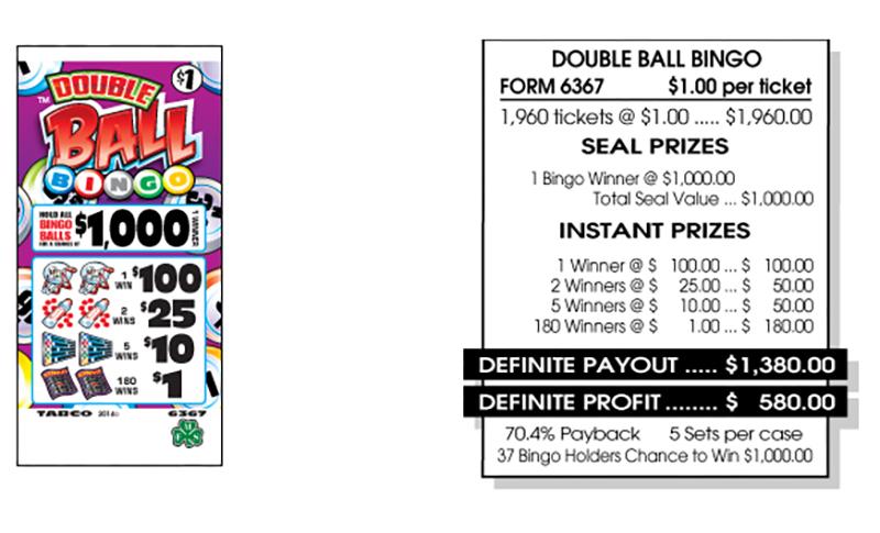 TAB 6367-DOUBLE BALL BINGO