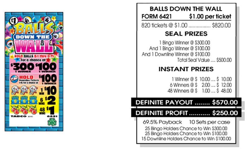 TAB 6421-BALLS DOWN THE WALL