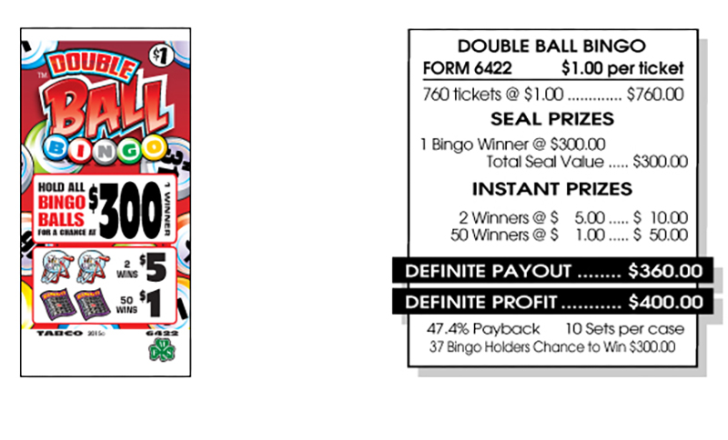 TAB 6422-DOUBLE BALL BINGO