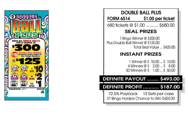 TAB 6514-DOUBLE BALL PLUS