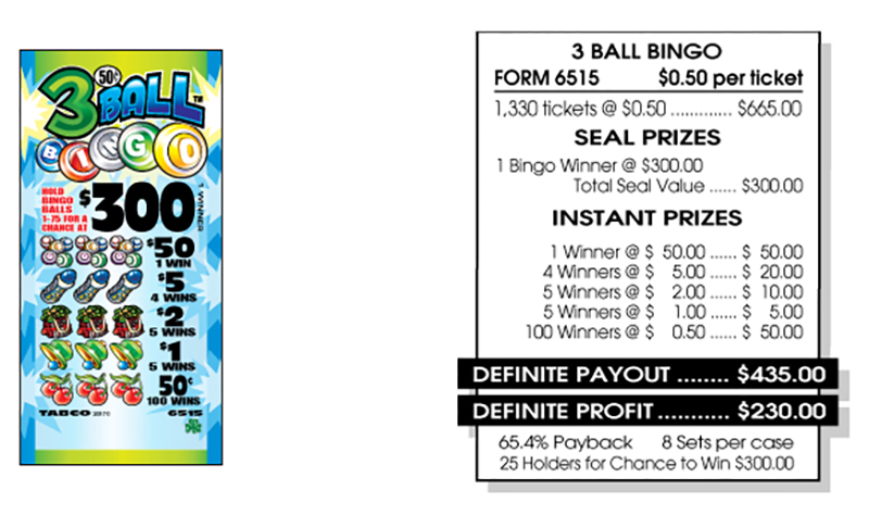 TAB 6515-3 BALL BINGO