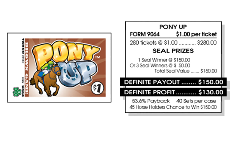 TAB 9064-PONY UP-BROWN